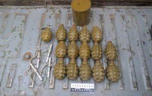 СБУ нашла тайник боеприпасов, заминированный гранатами