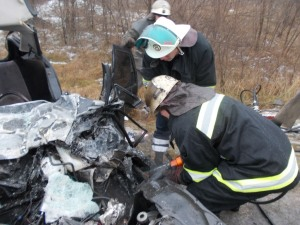 Обнародованы фото с места аварии с запорожской маршруткой