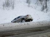 В Запорожской области водитель Subaru Forester съехал в кювет