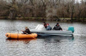 Рыбинспекция «арестовала» лодку браконьеров из Васильевки