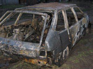 В Ленинском районе горел автомобиль