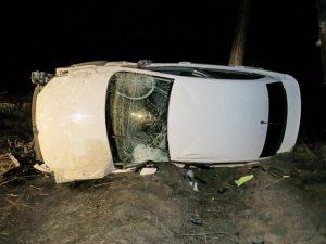 В результате ДТП в Бердянске перевернулся автомобиль – погибла женщина
