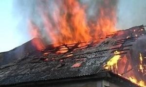 Пожарные в течение часа тушили жилой дом
