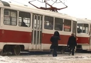 В Запорожье двигатель трамвая