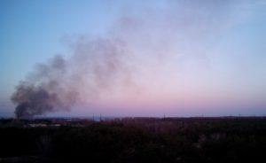 В Энергодаре 20 000 квадратных метров леса спасатели тушили семь часов