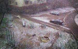 Теплый весенний снег - запорожцы шутят о зиме в середине марта