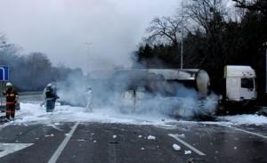 В Запорожье взорвался бензовоз – водитель в больнице