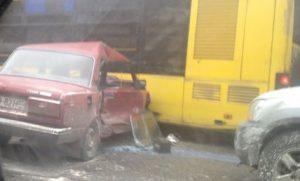 В полиции рассказали, как произошла авария в районе стадиона Торпедо