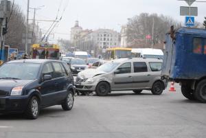В центре Запорожья произошла авария