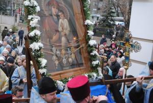 Чудотворная икона в Запорожье: Крестный ход по проспекту Соборному  в фотографиях