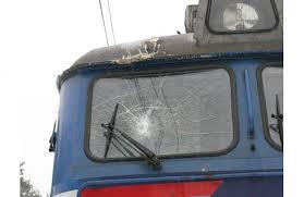 Электропоезд Запорожье-2 – Кривой Рог атаковали хулиганы