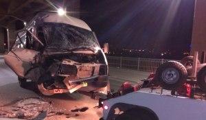 Полиция: Маршрутку на мосту Преображенского никто не обстреливал
