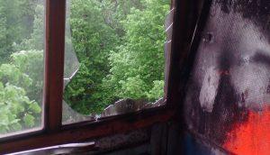 В Запорожье горела квартира, в которой находился ребенок