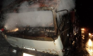 Спасатели показали фото, как в Запорожской области горел Камаз