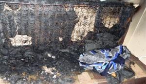 Пожарные спасли из горящей квартиры запорожца