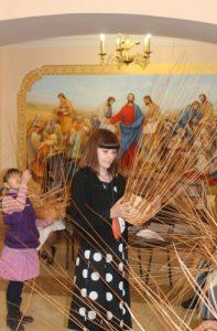 Священнослужители учили запорожцев плести пасхальные корзины