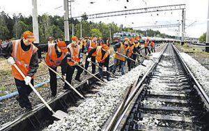 Приднепровская железная дорога потратила почти 30 млн грн на ремонт путей
