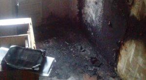 В Запорожской области горела квартира - пострадала бабушка