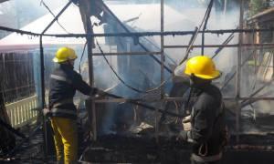 Горячие выходные: Спасатели тушили кафе и летнюю кухню в частном доме