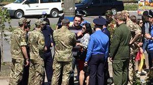 Как бердянские ветераны АТО 9 мая с георгиевскими лентами боролись
