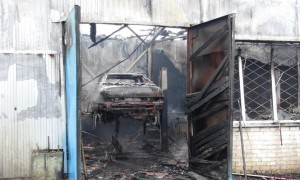 В центре Запорожья горело СТО