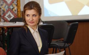 Визит первой леди Марины Порошенко в Запорожье в фотографиях