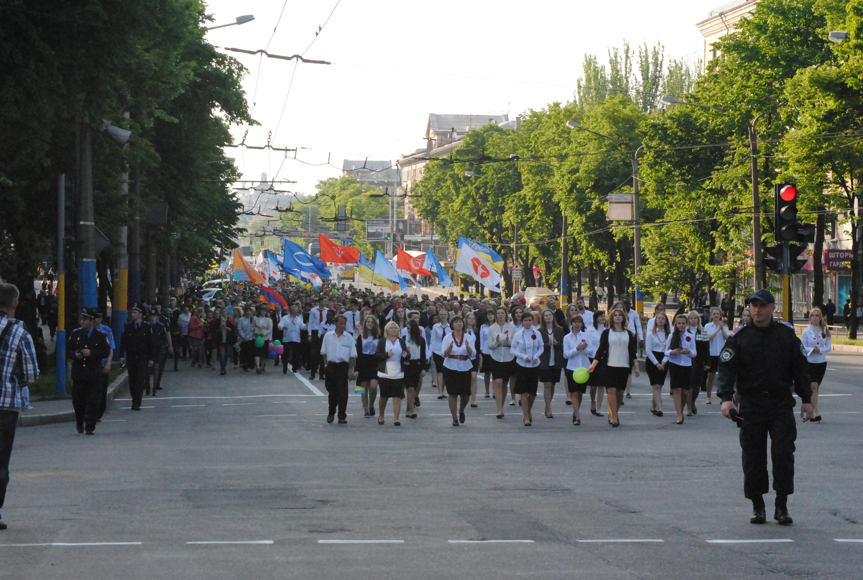«Пасхальное шествие» в Запорожье: По проспекту Соборному прошли несколько сотен христиан