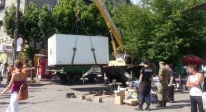 В Александровском районе демонтировали торговый киоск