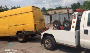В Запорожье патрульные разыскали нетрезвого водителя, который скрылся с места ДТП