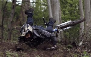 В Запорожье патрульные оказали помощь мужчине, упавшему с велосипеда