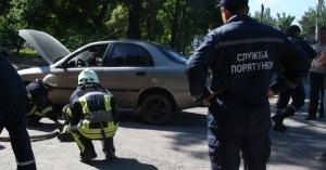 Пошла жара: В Запорожье сгорел Ланос