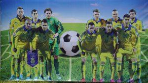 На запорожской фан-зоне можно сфотографироваться со сборной Украины по футболу - фотофакт