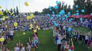 Запорожцы поддержали национальную сборную по футболу флеш-мобом