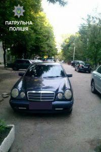 Запорожские патрульные нашли Mercedes, который два месяца ищут в Днепре