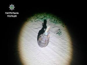 Запорожцы обнаружили гранату на дороге в Днепровском районе