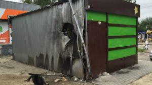 В Запорожье взорвали МАФ сети «Рідний край» - ФОТО