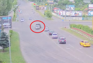 В сети появилось видео ДТП с участием BMW X5