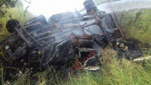В Запорожской области в результате ДТП загорелся автомобиль - двое пострадавших
