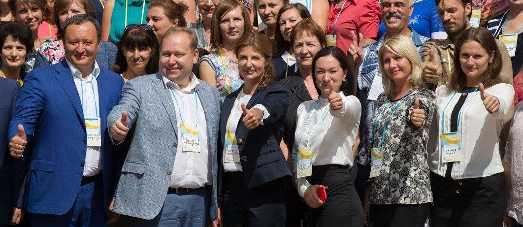 Марина Порошенко в Запорожье: Возможно, именно украинские школы откроют миру новых Джобсов, Эйнштейнов или Бетховенов - ФОТО