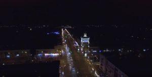 Ночное Запорожье сняли с высоты птичьего полета