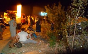 Спасатели опубликовали фото аварии, в которой пострадали 14 паломников