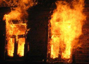 В запорожском селе сгорела летняя кухня