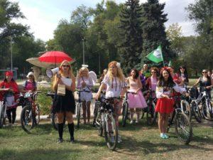 В Запорожья состоялся женский велопробег