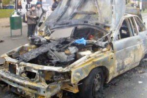 В Запорожской области ночью сгорели два авто