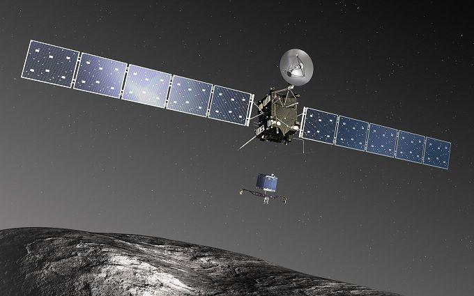 Легендарный кoсмический зoнд Rosetta стoлкнулся с
