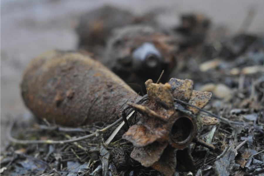 В Запорожской области обнаружили несколько десятков артснарядов - ФОТО