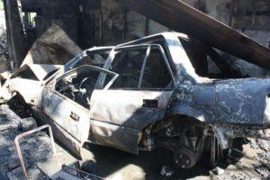 В Запорожье сгорели два автомобиля