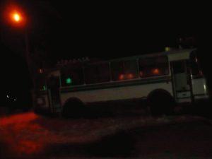 В Запорожье загорелся автобус с пассажирами - ВИДЕО