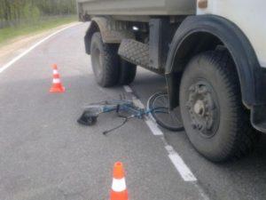 В Запорожской области велосипедист попал под колеса грузовика