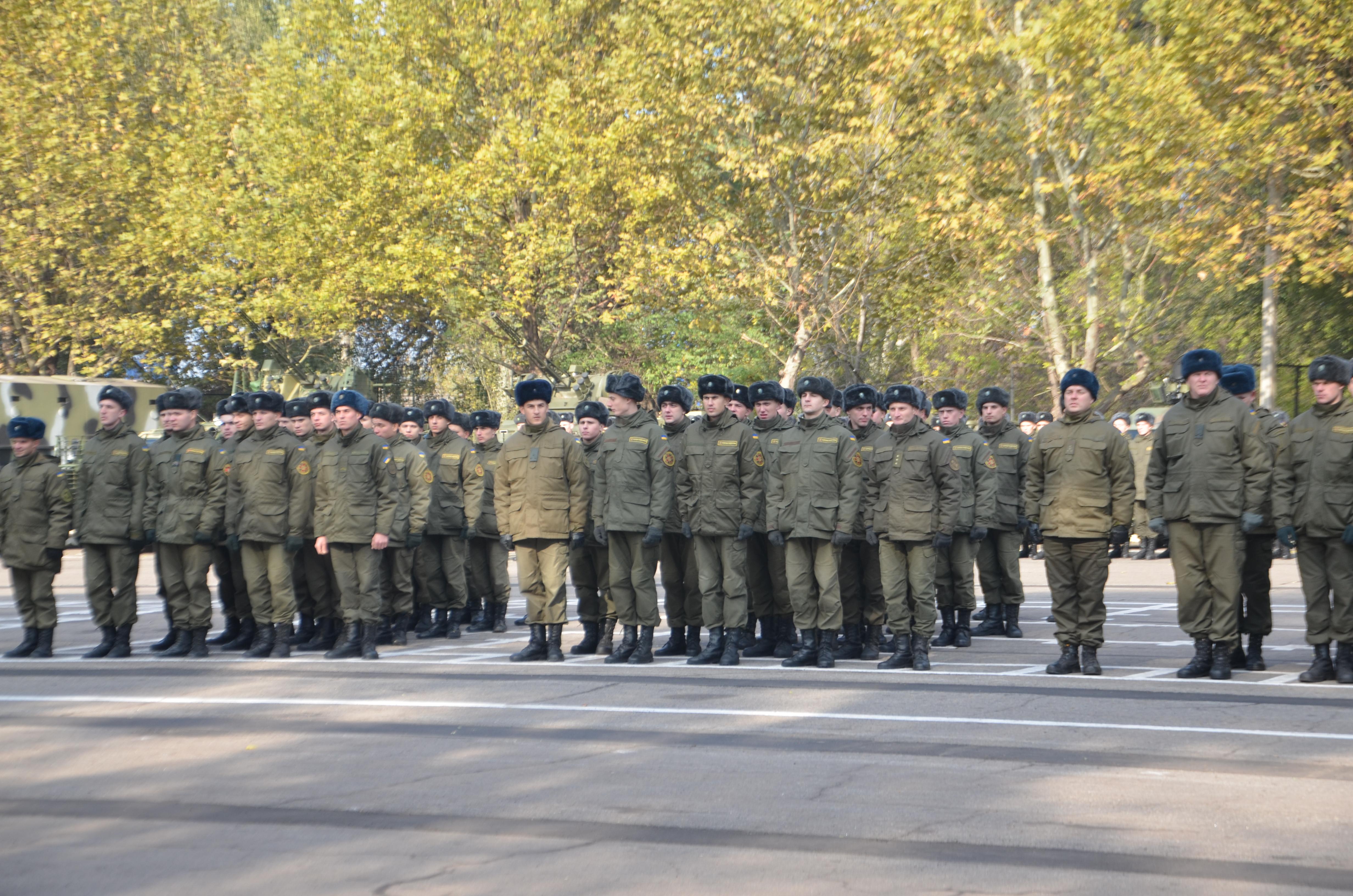 Запорожская воинская часть отметила свой день рождения - фото